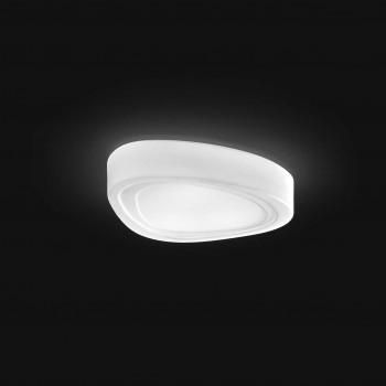 Perenz Plafoniera grande in vetro con forma a goccia di design moderno elegante  Bianco
