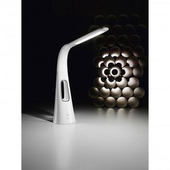 Perenz Lampada da tavolo orientabile in plastica con ventilatore ad aria aspirata Blow Bianco Lumen 700 3000k Luce Calda  6508B