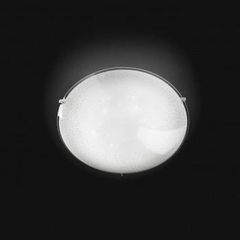 Perenz Plafoniera media con illuminazione LED in vetro di design moderno  Bianco Lumen 1260 4000k Luce Naturale