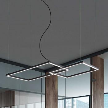 """Perenz Sospensione a LED moderna in alluminio verniciato regolabile in altezza """"Cross""""   Lumen 4800"""