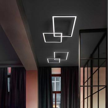 """Perenz Plafoniera a LED in alluminio verniciato composto da riquadri piccoli """"Cross""""   Lumen 3350 3000k Luce Calda"""