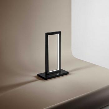 """Perenz Lampada da tavolo LED alluminio verniciato in stile moderno minimalista """"Cross""""   Lumen 1650 3000k Luce Calda"""