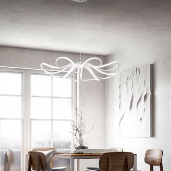 """Perenz Sospensione a LED in stile moderno in metallo con altezza regolabile """"Blossom""""   Lumen 8800 3000k Luce Calda"""
