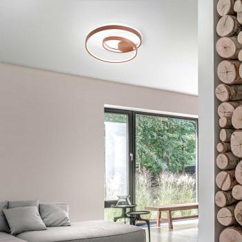 """Perenz Plafoniera a LED per salotto in stile minimalista in metallo verniciato """"Ritmo""""   Lumen 4400 3000k Luce Calda"""