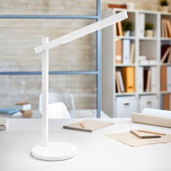 "Perenz Lampada da tavolo a LED orientabile in alluminio design moderno ""Ruler""   Lumen 300 3000k Luce Calda"