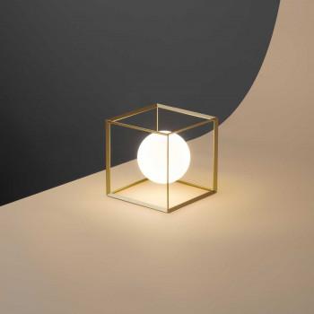"""Perenz Lampada da tavolo in stile ultamoderno in metallo verniciato """"Cube"""""""