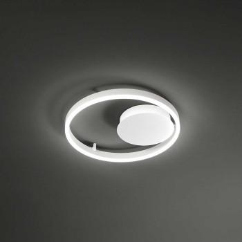 "Perenz Plafoniera grande a LED dimmerabile in stile moderno in matallo ""Eclipse""  Bianco Lumen 2970 3000k Luce Calda"