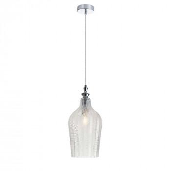 Maytoni Illuminazione a sospensione in metallo con diffusore in vetro lavorato a mano Festa Cromato    P033PL-01CH