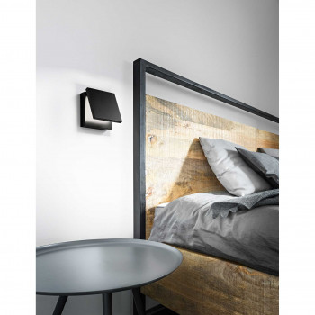 "Perenz Applique a LED per camera da letto in metallo diffusore regolabile ""Secret""   Lumen 700 3000k Luce Calda"
