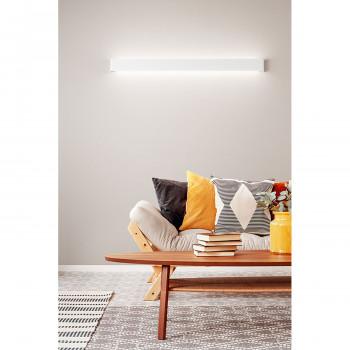 Perenz Applique a LED grande di design moderno in metallo verniciato Way Bianco Lumen 2700 3000k Luce Calda  6713BLC