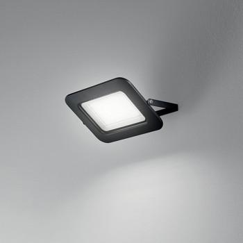 Perenz Faro proiettore a LED grande per esterni/interni in metallo Ultra Sottile Slim Pad Nero Lumen 8500 3000k Luce Calda  6718NLC