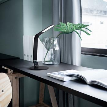 Perenz Lampada da tavolo LED orientabile funzione di spegnimento dopo 30min e porta USB Leg Nero Lumen 640 3000k-4500k-6500k Dimmerabile  6720N