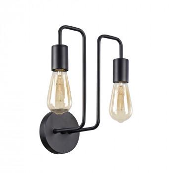 Maytoni Applique da parete in metallo con due lampadine in stile moderno Gilbert