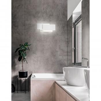 Perenz Applique a LED in alluminio verniciato formata da tre rettangoli sovrapposti Dip Bianco Lumen 2880 3000k Luce Calda  6750BLC