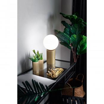 Perenz Lampada da comodino in metallo finitura oro spazzolato luce dimmerabile Birillo Oro    6762OR