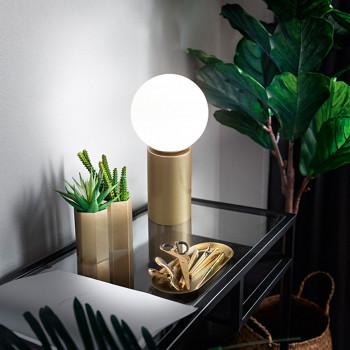 Perenz Lampada da tavolo in metallo finitura oro spazzolato luce dimmerabile Birillo Oro    6764OR
