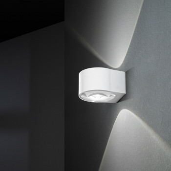 Perenz Applique a LED moderna per esterni/interni in alluminio con diffusori in vetro Vision  Lumen 900 3000k Luce Calda  6770