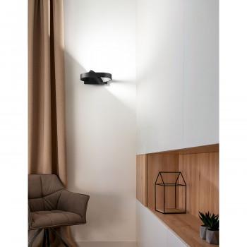 Perenz Applique da parete a LED in metallo con diffusore orientabile a 360 gradi Belt  Lumen 480 3000k-4000k-6000k Dimmerabile  6776