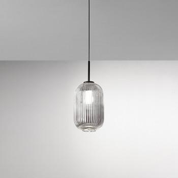 Perenz Lampada a sospensione ovale con montatura in metallo e vetro plissettato Plissè     6780