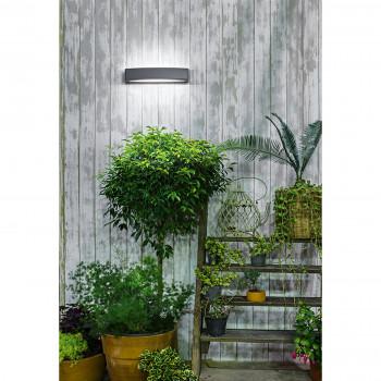 Perenz Applique da parete a LED biemissione per esterni/interni in alluminio Bowi  Lumen 371 3000k Luce Calda  6782