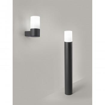 Perenz Palo in alluminio alto per esterni verniciato diffusore in vetro lucido Match Grafite    6788A