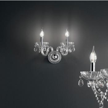 Perenz Applique mettallo braccia e pendagli ed elementi decorativi  in vetro soffiato Venezia Trasparente    6820TR