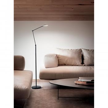 Perenz Piantana a LED orientabile in metallo con diffusore regolabile da design moderno Joint  Lumen 620 3000k Luce Calda  6824