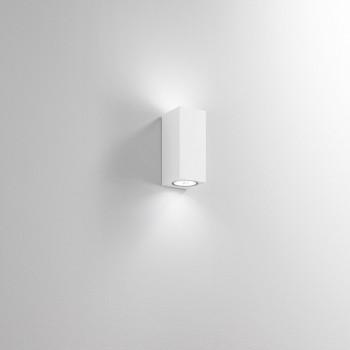 Perenz Applique alto biemissione per esterni/interni in alluminio diffusori in vetro Monolite     6828