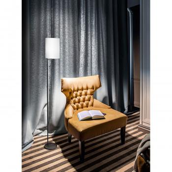 Perenz Piantana in metallo dalle linee moderne con paralume in tessuto Ram Hotel Nero    6854N