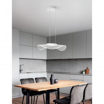 Perenz Lampada a sospensione LED in metallo diffusore in acrilico con microincisioni Medusa Bianco Lumen 2400 3000k Luce Calda  6866BLC