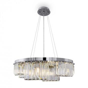 Maytoni Illuminazione a sospensione moderna media in metallo con diffusori in vetro Colline Cromato    MOD083PL-06CH