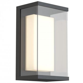 Maytoni Illuminazione da parete per esterno con diffusore a LED dal design moderno Baker Street  Lumen 420 3000k Luce Calda  O021WL-L10B4K