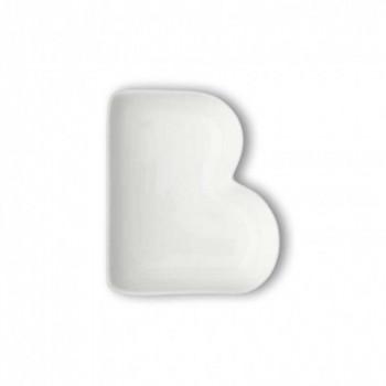 Brandani Antipastiera in porcellana con lettera B Lettere Bianco    82451