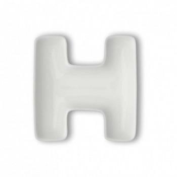 Brandani Antipastiera in porcellana con lettera H Lettere Bianco    82457