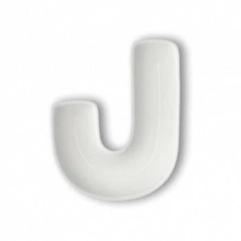 Brandani Antipastiera in porcellana con lettera J Lettere Bianco    82459