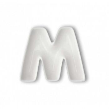 Brandani Antipastiera in porcellana con lettera M Lettere Bianco    82462