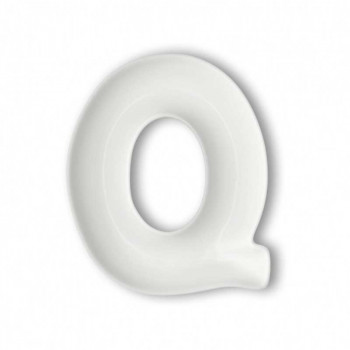 Brandani Antipastiera in porcellana con lettera Q Lettere Bianco    82466