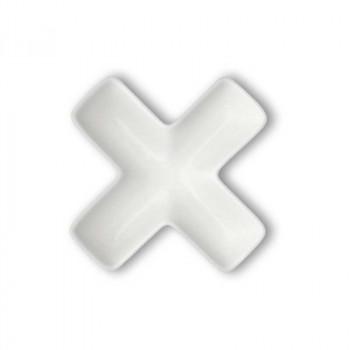 Brandani Antipastiera in porcellana con lettera X Lettere Bianco    82473