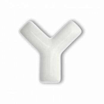 Brandani Antipastiera in porcellana con lettera Y Lettere Bianco    82474