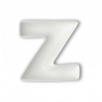Brandani Antipastiera in porcellana con lettera Z Lettere Bianco    82475