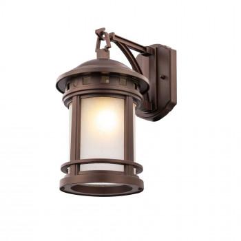 Maytoni Illuminazione da parete per esterno con diffusore in vetro dal design moderno Salamanca Marrone    O031WL-01BR