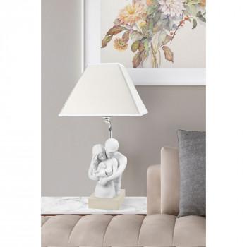 Bongelli Preziosi Lampada da tavolo moderna con scultura abbraccio famiglia      ME1929