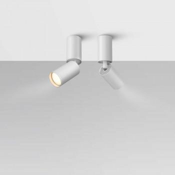 Maytoni Lampada da soffitto con faretto rotondo orientabile in alluminio Focus     C051CL-01