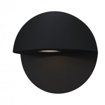 Maytoni Applique da parete a LED per esterno dal design moderno con diffusore rotondo Mezzo Nero Lumen 500 3000k Luce Calda  O033WL-L7B3K
