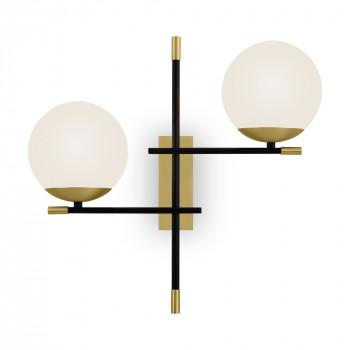 Maytoni Applique a parete con diffusori a boccia dal design moderno Nostalgia Nero/Oro    MOD050WL-02G