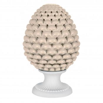Bongelli Preziosi Lampada da tavolo moderna a forma di Pigna siciliana decorata a mano  Nocciola    ME1876/N