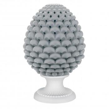 Bongelli Preziosi Lampada da tavolo moderna a forma di Pigna siciliana decorata a mano  Grigio    ME1876/G