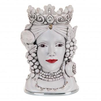 Bongelli Preziosi Testa di moro femminile decorata a mano dallo stile moderno  Bianco    RS1882