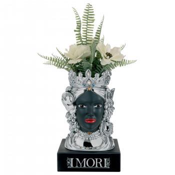 Bongelli Preziosi Testa di moro femminile decorata a mano dallo stile moderno  Nero    ME1884/NERO