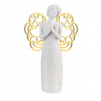 Bongelli Preziosi Bomboniera Comunione - Scultura con angelo che prega con ali in dorate  Oro    ME1650/1OR